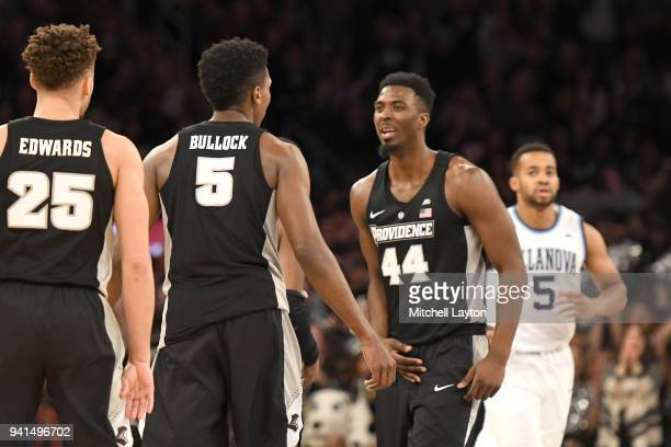 Isaiah Jackson of the Providence Friars celebrates a basket with Rodney Bullock during the finals of the 2018 Big East Mens Basketball Tournament...