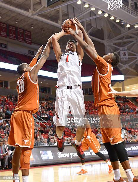 Isaiah Manderson of the Texas Tech Red Raiders shoots the ball during the game against the Texas Tech Red Raiders on January 3, 2015 at United...