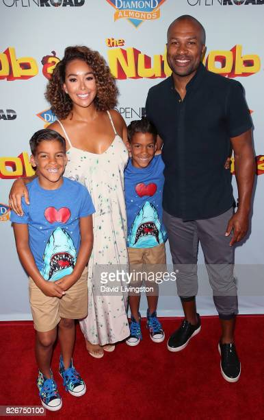 Isaiah Michael Barnes TV personality Gloria Govan Carter Kelly Barnes and former NBA player Derek Fisher attend the premiere of Open Road Films' The...