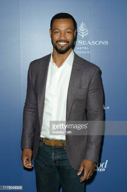 Isaiah Mustafa attends The Hollywood Foreign Press Association and The Hollywood Reporter party at the 2019 Toronto International Film Festival at...