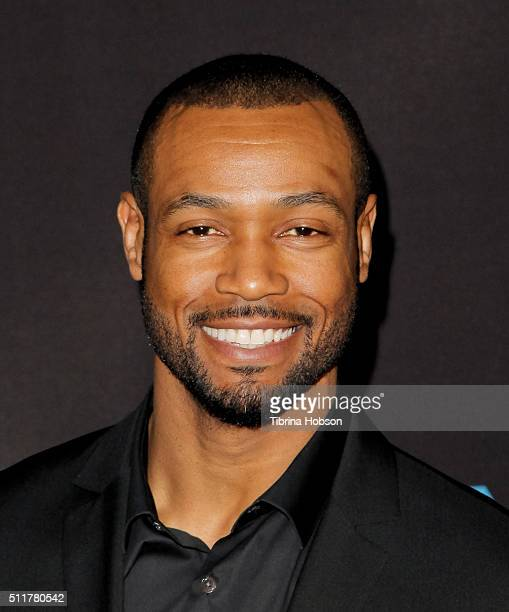 Isaiah Mustafa attends the Premiere of Netflix's 'Crouching Tiger Hidden Dragon Sword Of Destiny' at AMC Universal City Walk on February 22 2016 in...