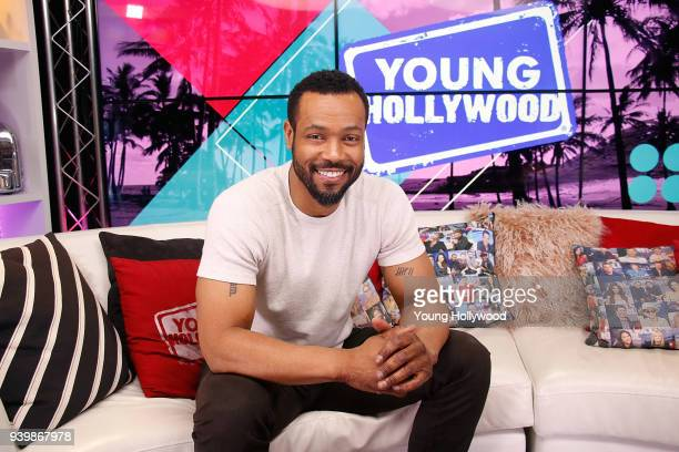 Isaiah Mustafa visits the Young Hollywood Studio on March 29 2017 in Los Angeles California