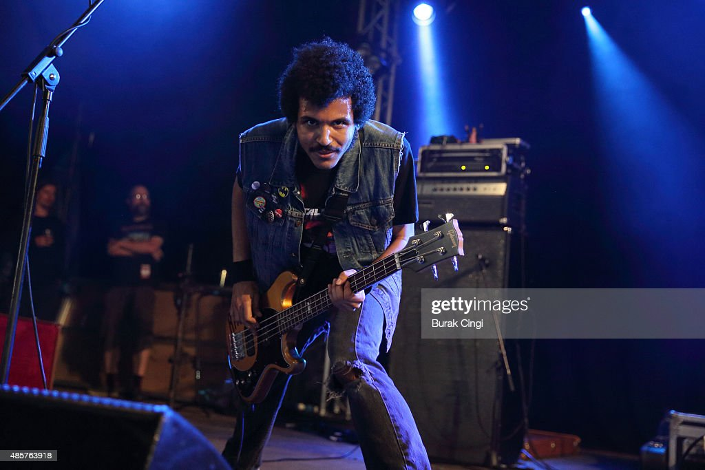 Isaiah Radke of Radkey performs on day 2 of Reading Festival at Richfield Avenue on August 29, 2015 in Reading, England.