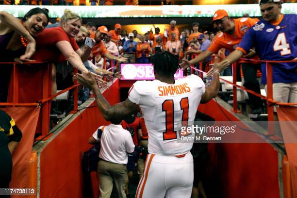 Isaiah Simmons of the Clemson Tigers at the Carrier Dome on September 14 2019 in Syracuse New York