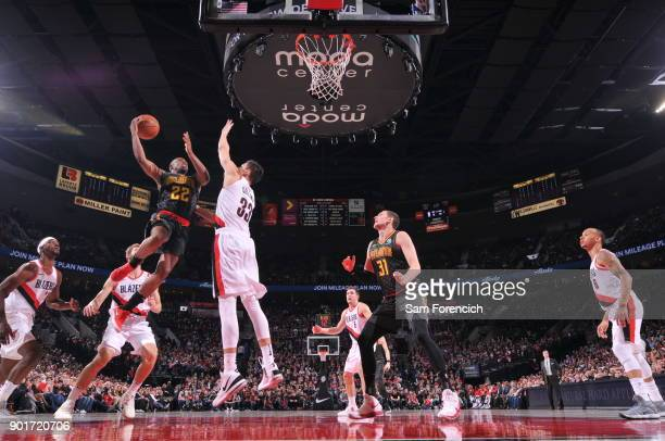 Isaiah Taylor of the Atlanta Hawks dunks against the Portland Trail Blazers on January 5 2018 at the Moda Center in Portland Oregon NOTE TO USER User...