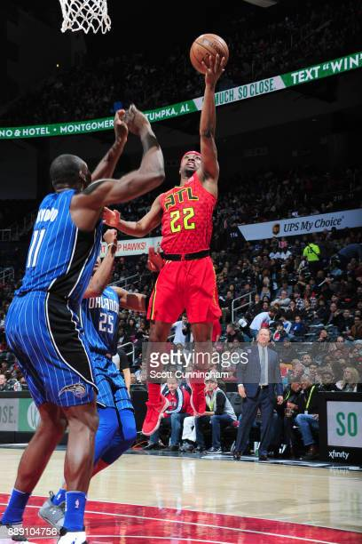 Isaiah Taylor of the Atlanta Hawks goes for a lay up against the Orlando Magic on December 9 2017 at Philips Arena in Atlanta Georgia NOTE TO USER...