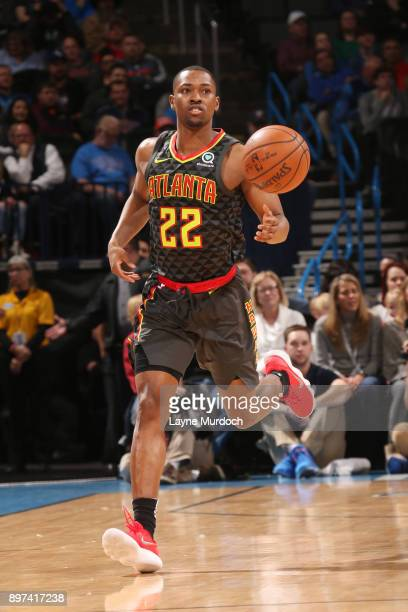 Isaiah Taylor of the Atlanta Hawks handles the ball against the Oklahoma City Thunder on December 22 2017 at Chesapeake Energy Arena in Oklahoma City...