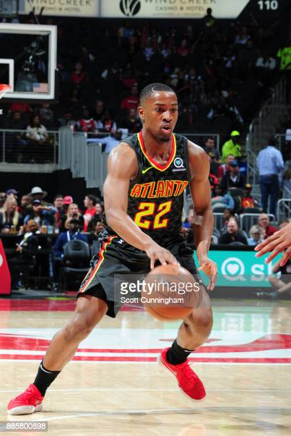 Isaiah Taylor of the Atlanta Hawks handles the ball against the Brooklyn Nets on December 4 2017 at Philips Arena in Atlanta Georgia NOTE TO USER...