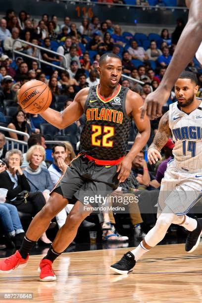 Isaiah Taylor of the Atlanta Hawks handles the ball against the Orlando Magic on December 6 2017 at Amway Center in Orlando Florida NOTE TO USER User...