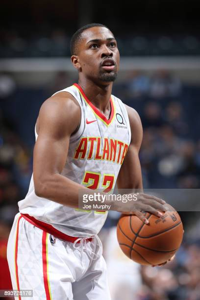 Isaiah Taylor of the Atlanta Hawks shoots a free throw against the Memphis Grizzlies on December 15 2017 at FedExForum in Memphis Tennessee NOTE TO...