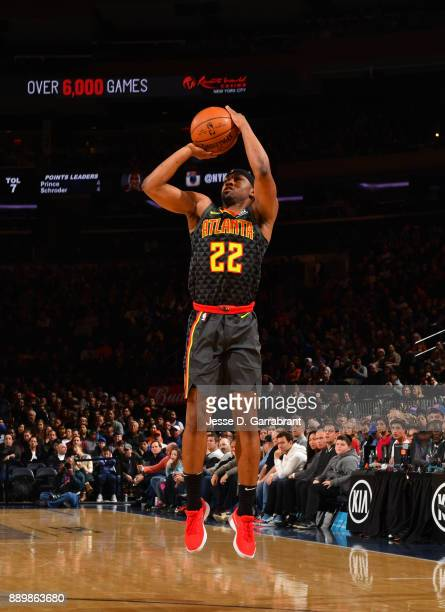 Isaiah Taylor of the Atlanta Hawks shoots the ball against the New York Knicks at Madison Square Garden on December 10 2017 in New York New York NOTE...