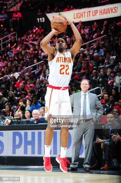 Isaiah Taylor of the Atlanta Hawks shoots the ball against the Washington Wizards on December 27 2017 at Philips Arena in Atlanta Georgia NOTE TO...