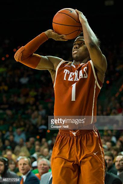 Isaiah Taylor of the Texas Longhorns shoots the ball against the Baylor Bears on January 31 2015 at the Ferrell Center in Waco Texas