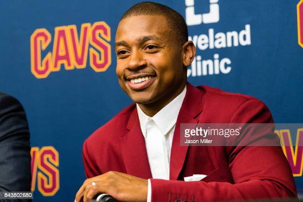 Isaiah Thomas is introduced as a Cleveland Cavalier at Cleveland Clinic Courts on September 7 2017 in Independence Ohio NOTE TO USER User expressly...