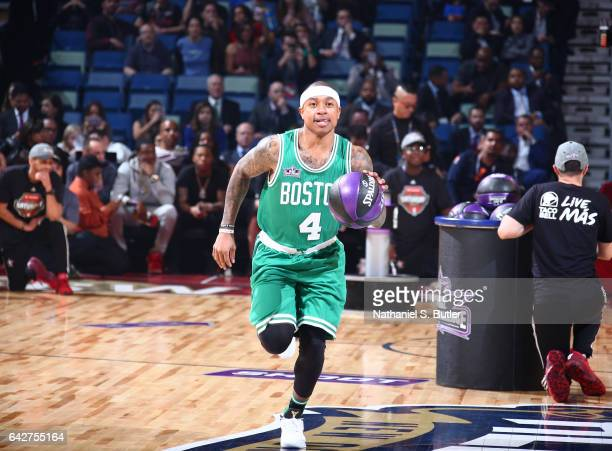 Isaiah Thomas of the Boston Celtics during the Taco Bell Skills Challenge during State Farm AllStar Saturday Night as part of the 2017 NBA AllStar...