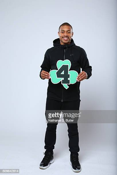 Isaiah Thomas of the Boston Celtics poses for portraits during the NBAE Circuit as part of 2016 AllStar Weekend at the Sheraton Centre Hotel on...