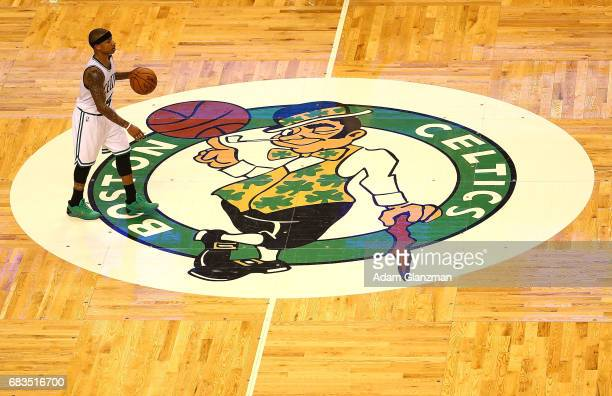 Isaiah Thomas of the Boston Celtics runs the offense against the Washington Wizards during Game Seven of the NBA Eastern Conference SemiFinals at TD...