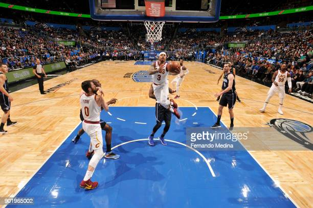 Isaiah Thomas of the Cleveland Cavaliers dunks against the Orlando Magic on January 6 2018 at Amway Center in Orlando Florida NOTE TO USER User...