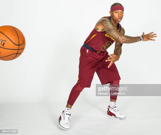 Isaiah Thomas of the Cleveland Cavaliers poses for a portrait during the 201718 NBA Media Day on September 25 2017 at Quicken Loans Arena in...