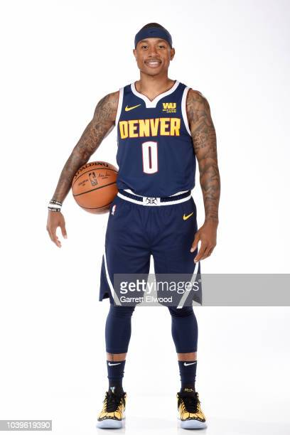 Isaiah Thomas of the Denver Nuggets poses for a portrait during Media Day on September 24 2018 at the Pepsi Center in Denver Colorado NOTE TO USER...