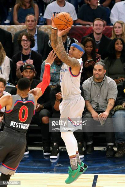 Isaiah Thomas of the Eastern Conference AllStar Team shoots the ball during the NBA AllStar Game as part of the 2017 NBA All Star Weekend on February...