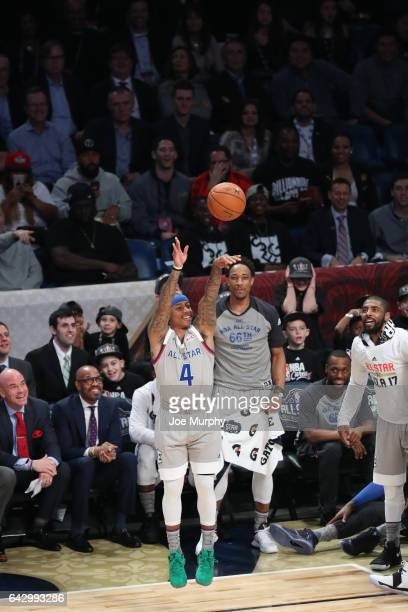 Isaiah Thomas of the Eastern Conference dunks during the NBA AllStar Game as a part of 2017 AllStar Weekend at the Smoothie King Center on February...