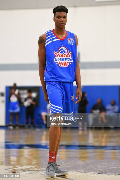 Isaiah Todd from Marshall High School looks on during the Pangos AllAmerican Camp on June 1 2018 at Cerritos College in Norwalk CA