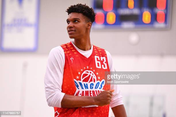 Isaiah Todd from Trinity High School looks on during the Pangos AllAmerican Camp on June 2 2019 at Cerritos College in Norwalk CA
