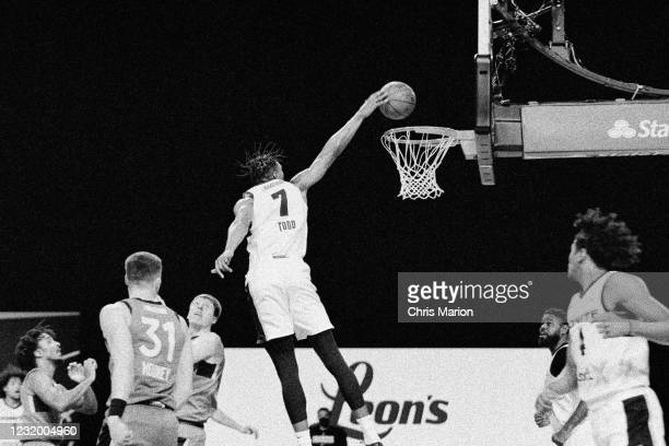 Isaiah Todd of Team Ignite dunks the ball against the Raptors 905 during the NBA G League Playoffs on March 8, 2021 at AdventHealth Arena in Orlando,...