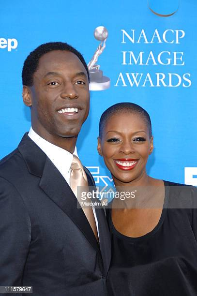 Isaiah Washington and Jenisa Marie Washington during The 37th Annual NAACP Image Awards Red Carpet at Shrine Auditorium in Los Angeles California...