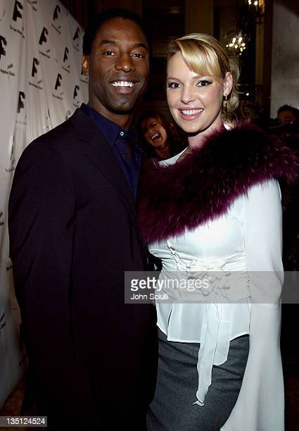 Isaiah Washington and Katherine Heigl during The Los Angeles Free Clinic's 29th Annual Dinner Gala - Arrivals at Regent Beverly Wilshire Hotel in...