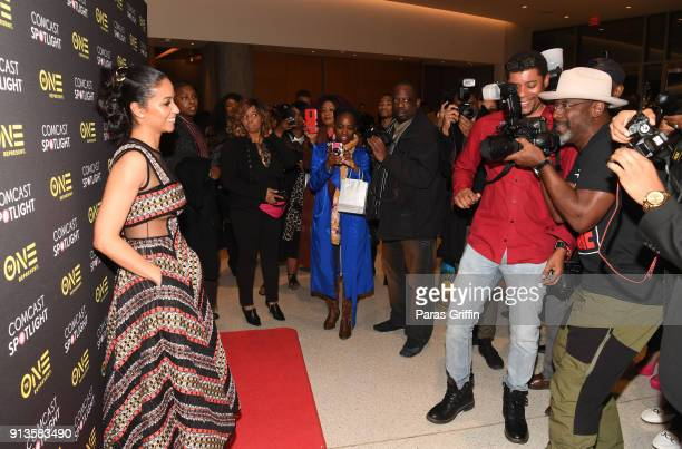 Isaiah Washington and Meta Golding attend Behind The Movement Atlanta screening at National Center for Civil and Human Rights on February 2 2018 in...