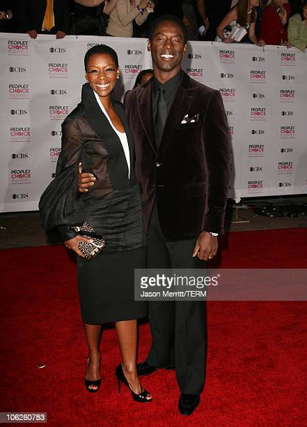 Isaiah Washington and wife Jenisa during 33rd Annual People's Choice Awards Arrivals at Shrine Auditorium in Los Angeles California United States