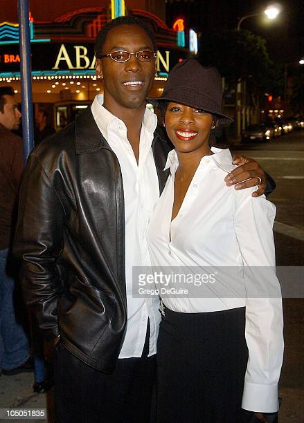 Isaiah Washington and wife Jenisa during Ghost Ship Los Angeles Premiere at Mann Village Theatre in Westwood California United States