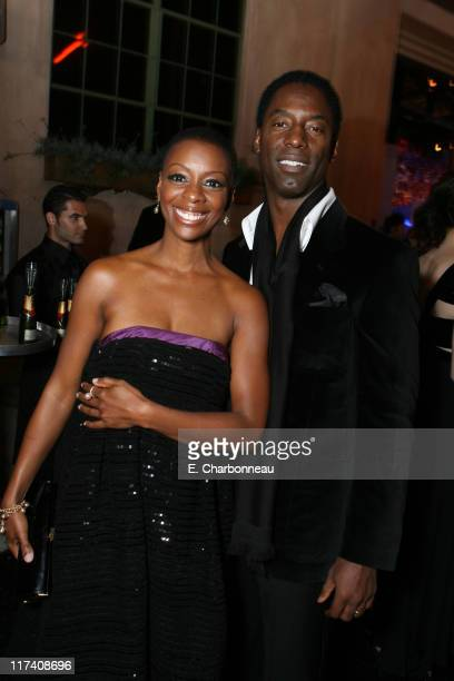Isaiah Washington and wife Jenisa Marie during MOCA's Opening Night Fete For The Skin Bones Exhibition Sponsored By Infiniti With Champagne...