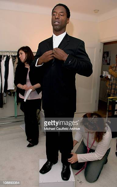Isaiah Washington at Hugo Boss during Glamour Magazine Golden Globes Style Suite Day 2 at Chateau Marmont in Hollywood California United States
