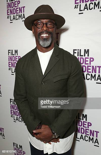 Isaiah Washington attends the I Am Not Your Negro Los Angeles Premiere at LACMA on January 12 2017 in Los Angeles California