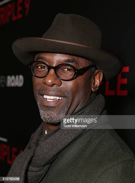 Isaiah Washington attends the premiere Of Open Road's Triple 9 at Regal Cinemas LA Live on February 16 2016 in Los Angeles California