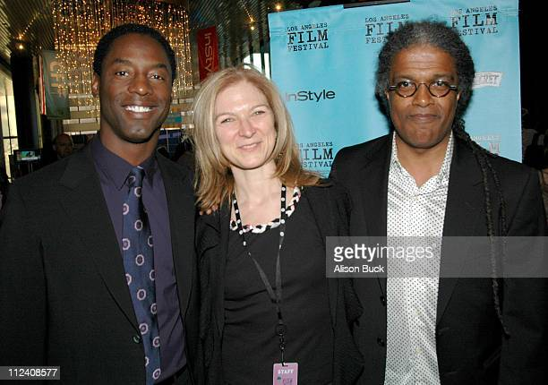 Isaiah Washington Dawn Hudson and Elvis Mitchell during 2005 Los Angeles Film Festival Gone Are The Days Screening at Director's Guild of America in...