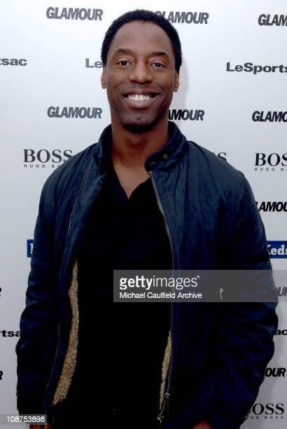 Isaiah Washington during Glamour Magazine Golden Globes Style Suite Day 2 at Chateau Marmont in Hollywood California United States