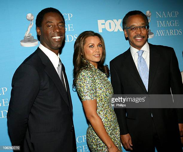 Isaiah Washington Vanessa L Williams and Bruce S Gordon President and CEO of the NAACP