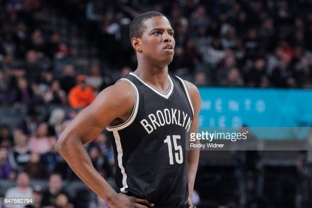 Isaiah Whitehead of the Brooklyn Nets looks on during the game against the Sacramento Kings on March 1 2017 at Golden 1 Center in Sacramento...