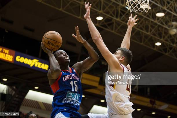 Isaiah Whitehead of the Long Island Nets shoots the ball against the Canton Charge on November 25 2017 at the Canton Memorial Civic Center in Canton...