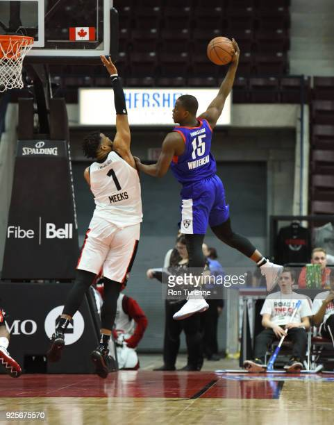 a597b40e715 Isaiah Whitehead of the Long Island Nets shoots the ball against the Raptors  905 on February