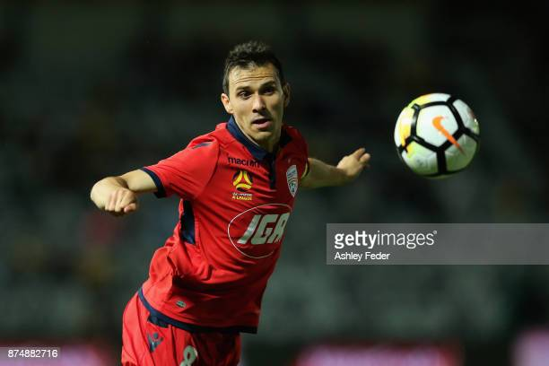 Isaias of Adelaide controls the ball during the round seven A-League match between the Central Coast Mariners and Adelaide United at Central Coast...