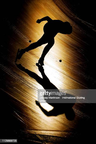 Isak Hoiby of Norway competes in the Men's 1500m during day 1 of the ISU World Junior Speed Skating Championships Baselga Di Pine at Ice Rink Pine on...