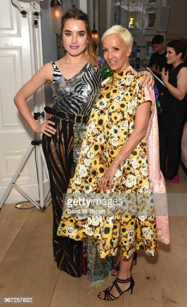 Isamaya Ffrench and to AnneMarie Curtis attend THE ELLE LIST 2018 in association with THEOUTNETCOM at Spring at Somerset House on June 4 2018 in...