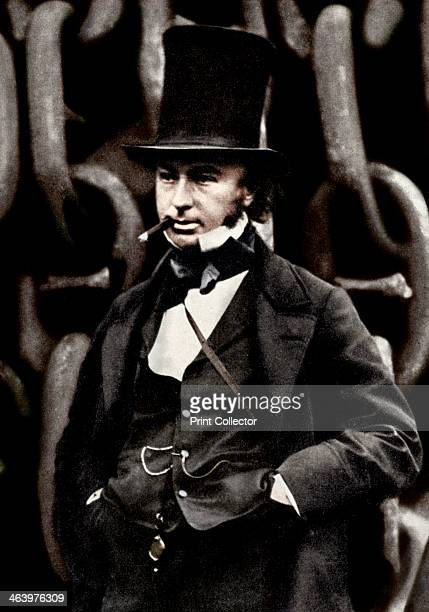 Isambard Kingdom Brunel British engineer Brunel standing in front of the launching chains of his steamship the 'Great Eastern' Brunel left school in...