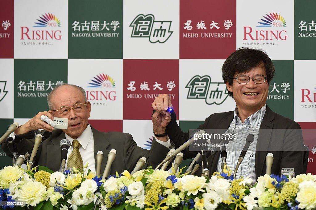 Nobel Physics Prize Amano and Isamu Akasaki Press Conference