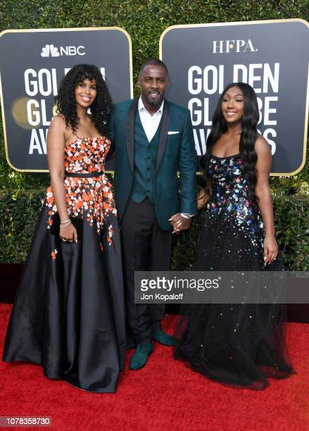 Isan Elba actor Idris Elba and his fiance model Sabrina Dhowre attend the 76th Annual Golden Globe Awards at The Beverly Hilton Hotel on January 6...